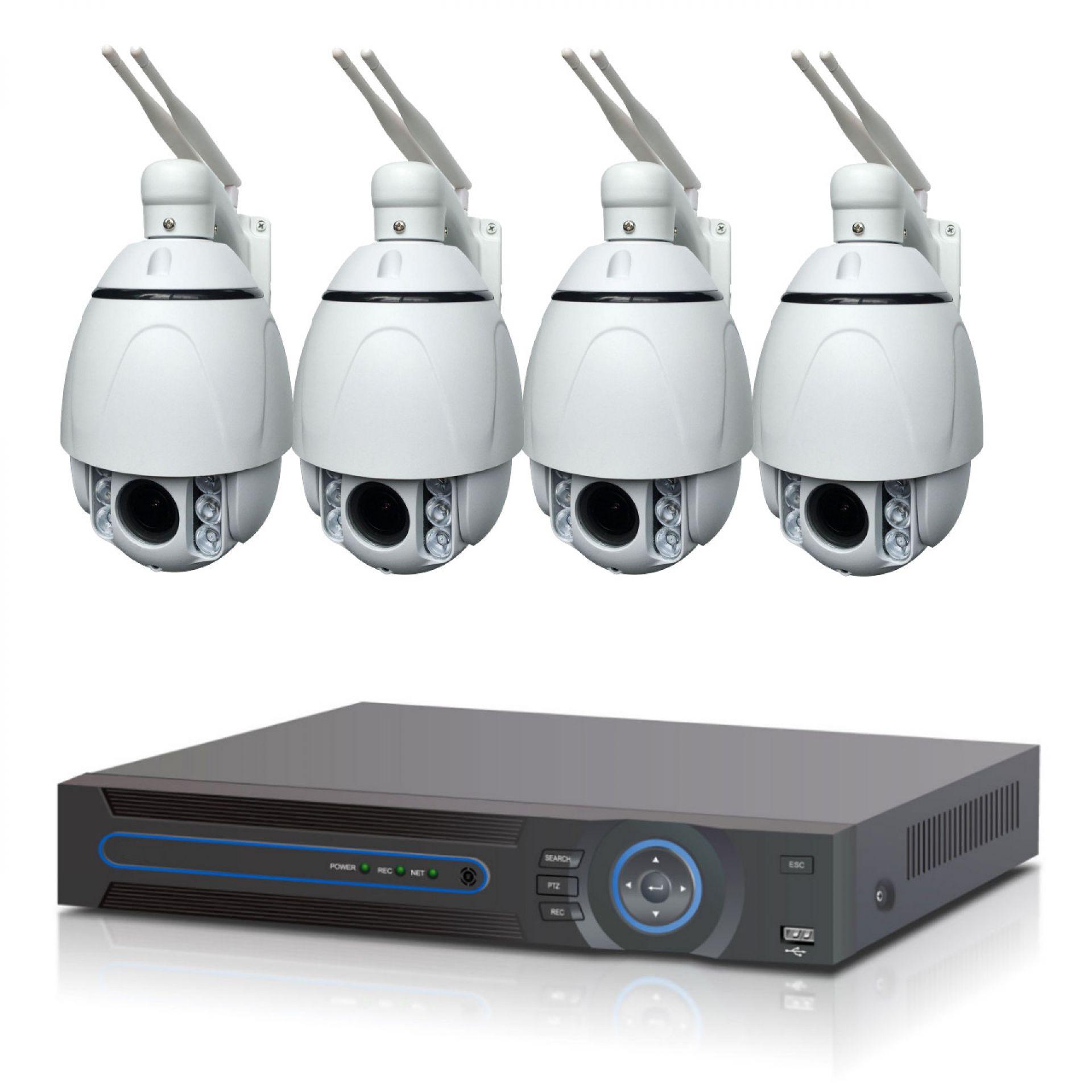 4 Kanal WLAN Full HD Überwachungsanlage