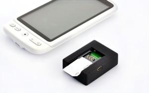 Motorola Handy und ein Triband-GSM-Sender