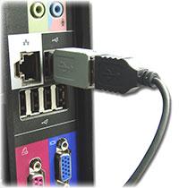 Ein gesteckter USB-Keylogger