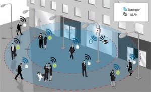 Schritt halten: Die Bewegungen aller Geräte, die WLAN oder Bluetooth aktiviert haben, werden registriert und aufgezeichnet.