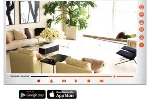 Software für die Überwachungskamera. Auch als App für Android und iPhone verfügbar.